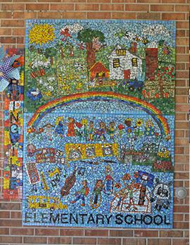Elementary school mosaic