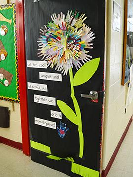 Flower door display