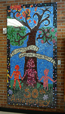 Farmingville where good things grow mosaic