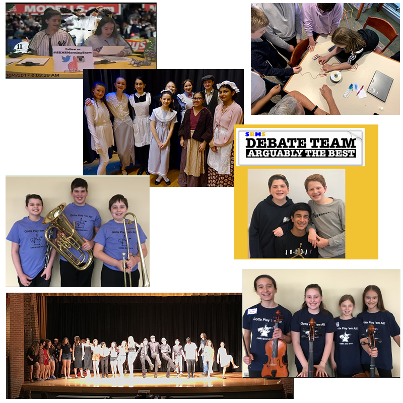 students participating in various extracurricular activities