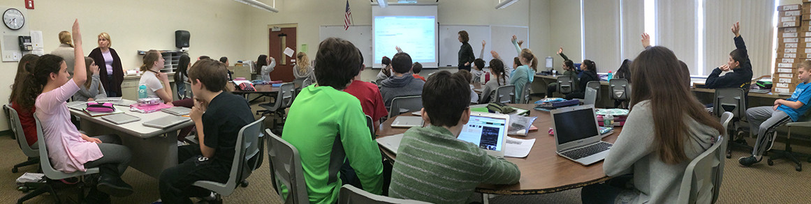 Students participate in class