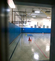 Side view of gym