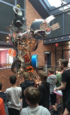 students learning about Prospector Theater's mission