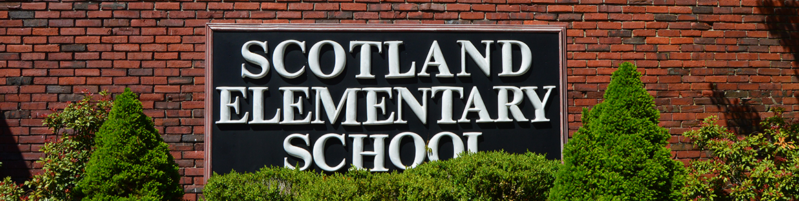 Scotland Elementary School outdoor sign