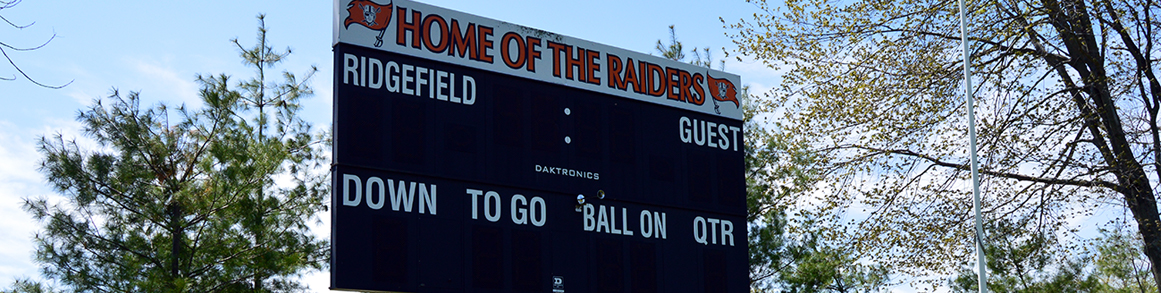 East Ridge Raiders scoreboard