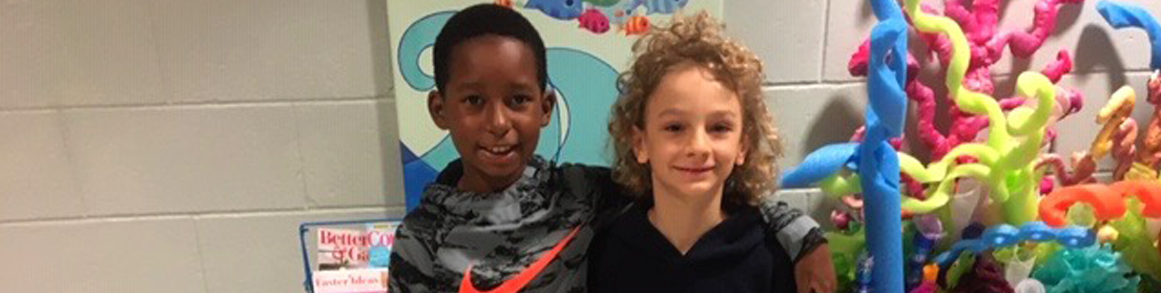 two Barlow Elementary students