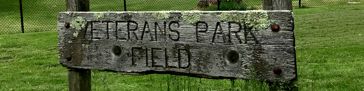 4-Veterans Park Field sign