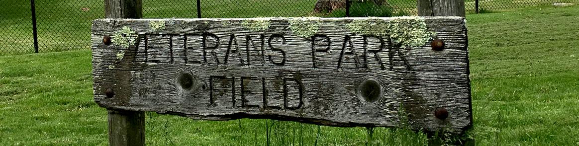 Veterans Park Field sign