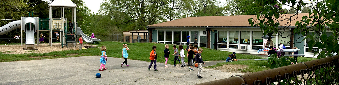 6-Veterans Park School Students on Playground