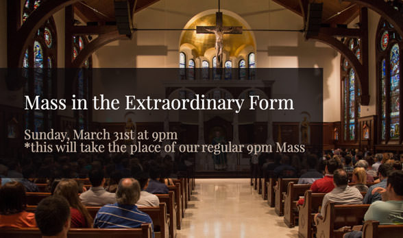 Mass in Extraordinary Form