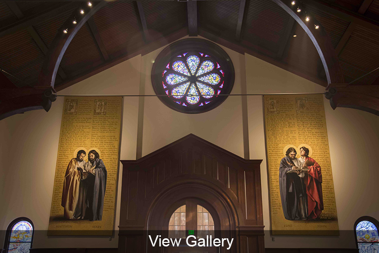 View the photo gallery for the Rose Window and Father Lawrence Tribute Window Unveiling