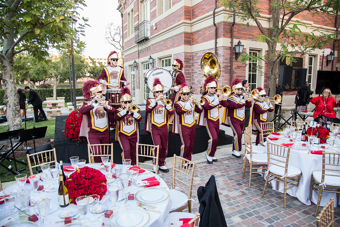 USC Caruso band performing