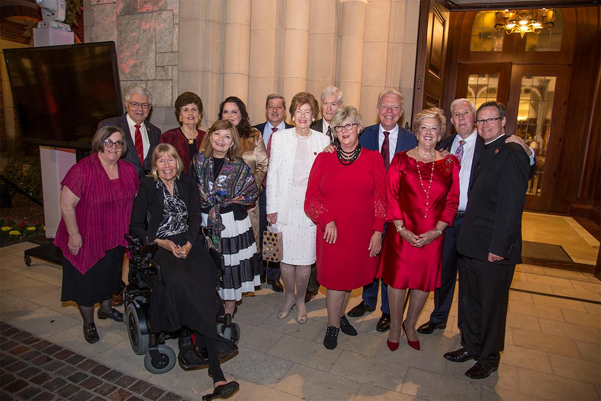 Trojan Saint Award Honoree and guests