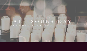 All Souls Day flyers with candles