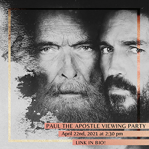 Paul the Apostle Viewing Party flyer