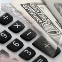 Calculator next to money