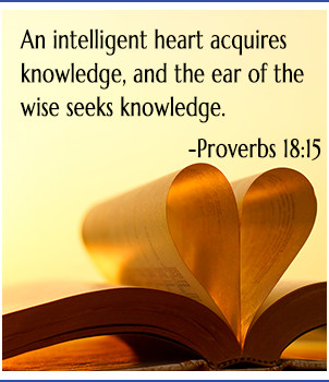 Book's page folded in heart shape, bible verse
