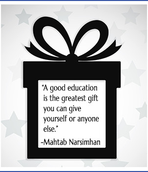 Gift wrapped, quote
