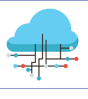 Cloud connected to dot path