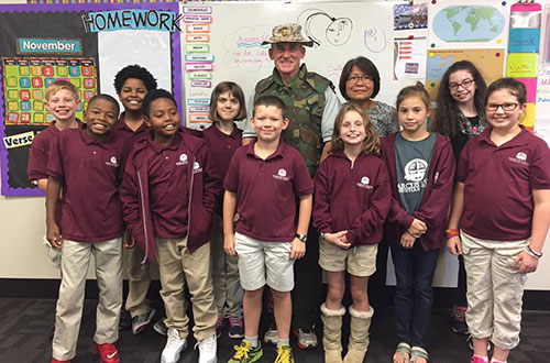 Group of Students on Veterans Day