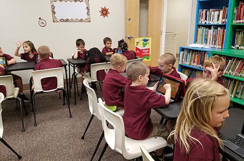 Students on Laptops