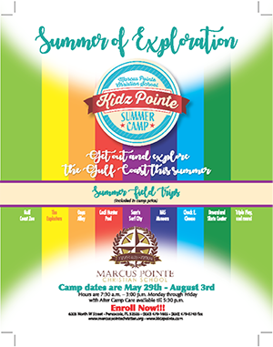 Summer of Exploration Kidz Pointe Camp Flyer