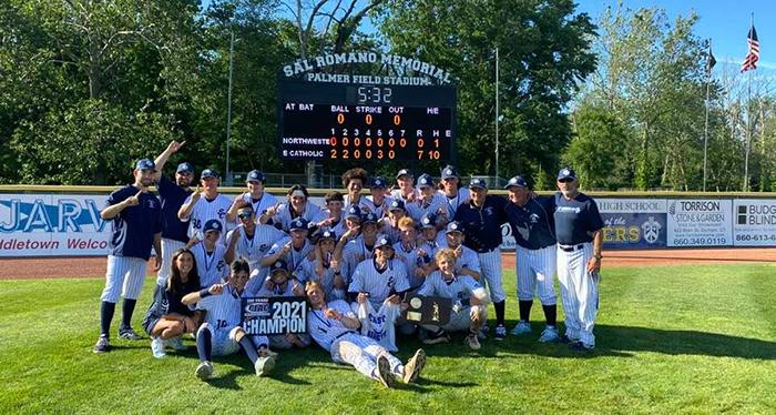 2021 Baseball State Champions team photo