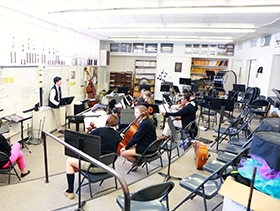 Students in Band Room