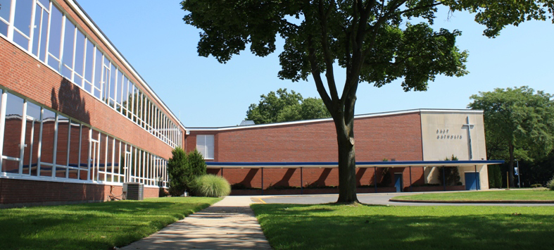 East Catholic building  view