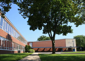 Front of East Catholic High School building