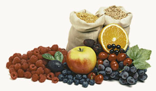 Fruit and grains
