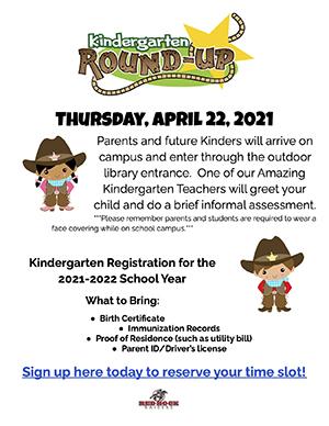 Red Rock Elementary Kindergarten Round Up Sign Up