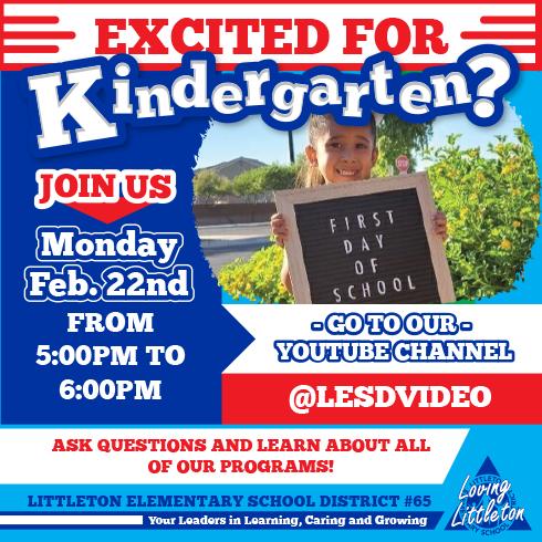 Excited for Kindergarten - flyer