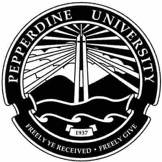 Pepperdine University logo - Freely Ye Received, Freely Give. 1937