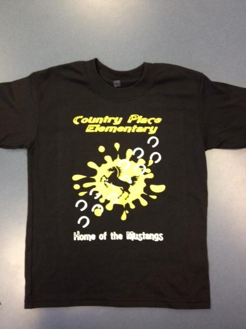 Country Place Elementary - Home of the Mustangs TShirt