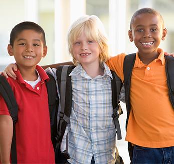 Three smiling boys