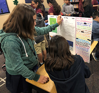 Students with poster board