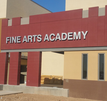 Front view of Fine Arts Academy