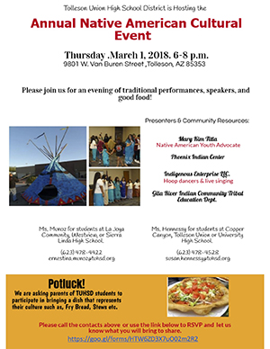 Annual Native America Cultural Event Flyer