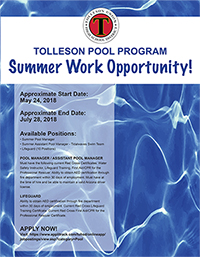 Tolleson Pool Program Summer Work Opportunity