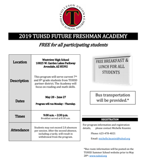 Future Freshman Academy Flyer