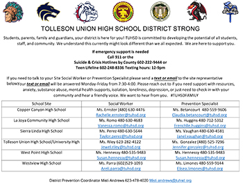 View the Tolleson Union High School District Strong flyer.