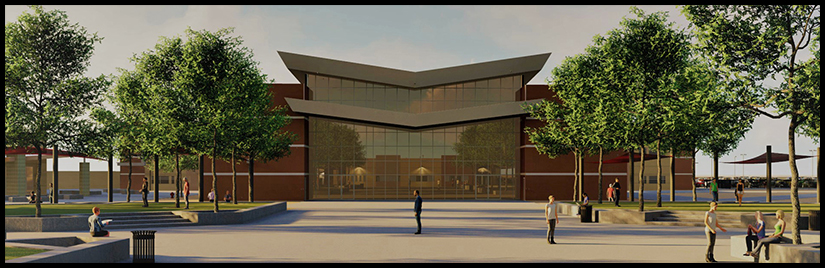 West Point High School building render