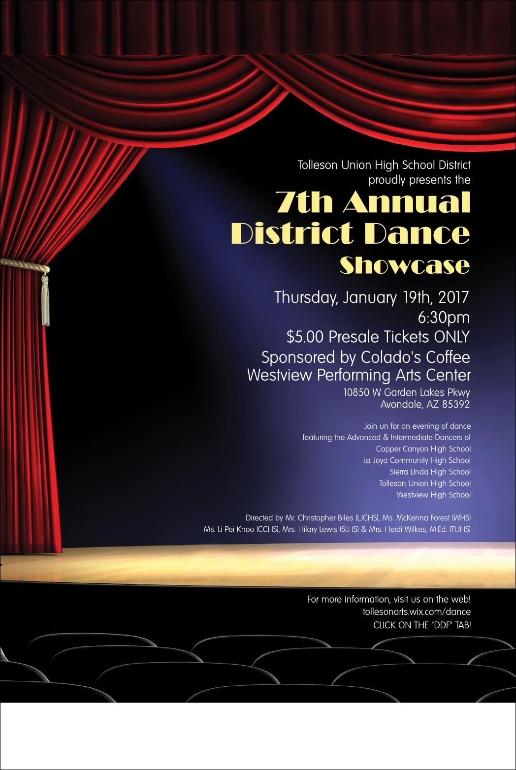 District Dance Showcase flyer