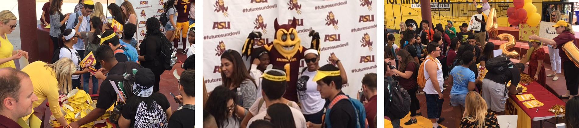 Students visit ASU campus