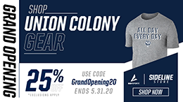 Visit Union Colony Schools store. Shop Union Colony Gear. Exclusions apply. 25% off. Use code GrandOpening20. Ends May 31, 2020. Shop now.
