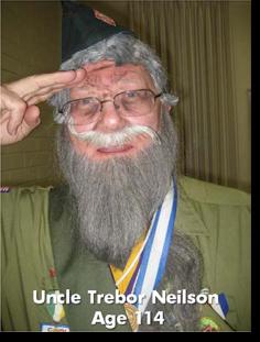 Uncle Trebor Neilson. Age 114.