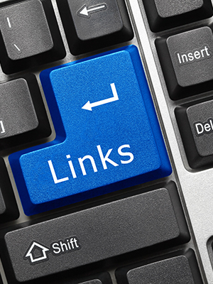 Links keyboard key
