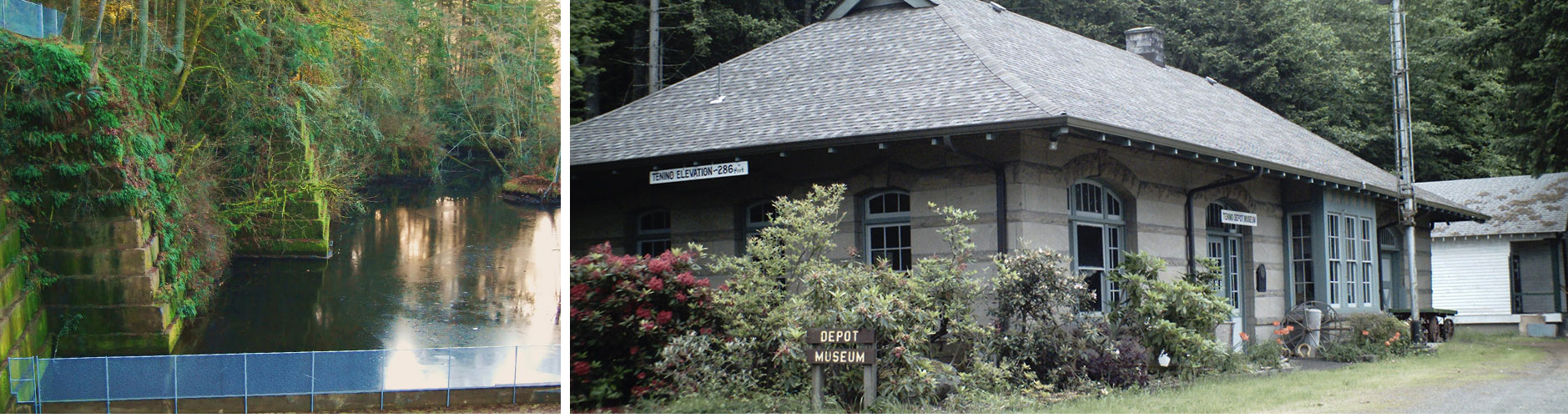 Train Depot Museum and Pond