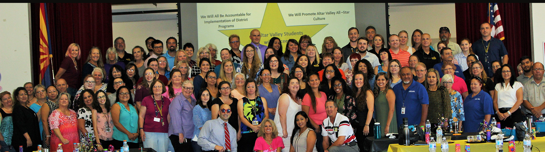 Group of Altar Valley Elementary School District staff members pose together